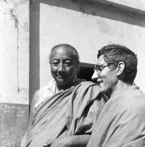 Dilgo Khyentse Rinpoche with Sangharakshita